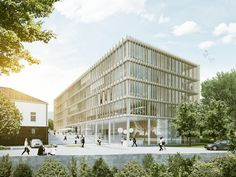 Miltenyi Campus Bergisch Gladbach CARPUS+PARTNER | 2014 Project website: http://www.rendertaxi.de/en/references/projects/00894.miltenyi-campus-bergisch-gladbach.html #education
