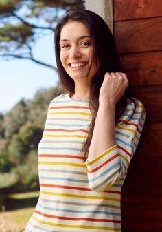 Breton Shirt, Sailor Shirt, Nautical Fashion, Color Stripes, Mustard Yellow, Lady, Sleeves, Clothes, Tops