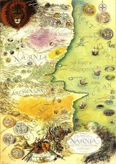 Narnia Map.  Ooh, I love the idea of, not only maps of places we've been but books we've read!