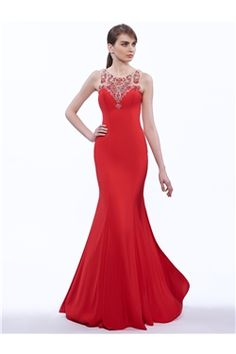 Floor-Length Beading Elegant & Luxurious Fall Formal Scoop Military Ball Trumpet/Mermaid Dress