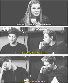 """This was the cutest thing ever!>>>> I love that Louis just like """"Seriously, Niall? We discussed this! This is soo embarrassing"""
