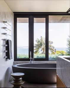 Stunning bathroom design featuring our popular Whitney stone bath. Bathroom Suppliers, Stone Bathtub, Luxury Bathtub, Stone Basin, Terrazzo, Relax, Pure Products, Popular, Design
