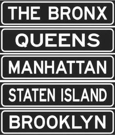 "New York City boroughs...THERE ARE ONLY 5 BOROUGHS IN N.Y......BUT THERE WAS GOING TO BE A 6th BOROUGH AND IT WAS GOING TO CALLED ""YONKERS""....DID YOU KNOW THIS?....JUST TO LET YOU KNOW....A F.Y.I. FOR YOU"