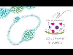 Lotus Flower Bracelets | Take a Make Break with Sarah ~ Seed Bead Tutorials