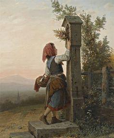 by German artist, Johann Georg Meyer von Bremen (1813 - 1886)