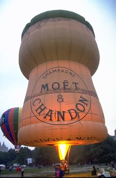 Ever been on a champagne ride? Checkout this Moët & Chandon hot air balloon
