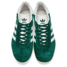 adidas Originals - Green Suede Gazelle OG Sneakers