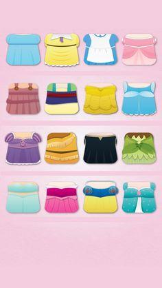 iPhone Disney princess dresses background! I love this! Soooo cute