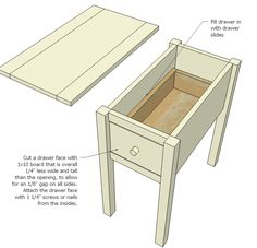 Ana White Build a Narrow Cottage End Tables Free and Easy DIY