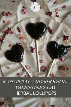 Looking for a way to add a little herbal goodness to your Valentine's Day? Try these rose petal and rhodiola herbal lollipops! Lollipop Recipe, Making Sweets, Healthy Groceries, Healing Herbs, Holistic Healing, Edible Flowers, Herbal Medicine, Natural Medicine, Rose Petals