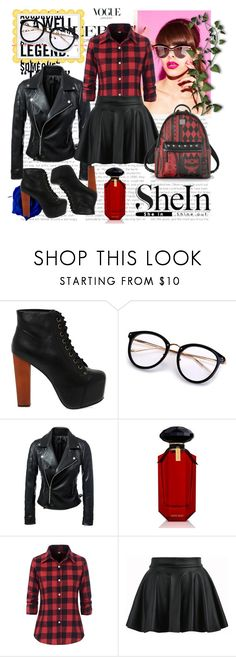 """""""SHEIN SUNGLASSES!"""" by jasmine-monro ❤ liked on Polyvore featuring Jeffrey Campbell, Victoria's Secret, MCM, contest, sunglasses, women and shein"""