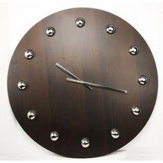 Jumbo 30-inch Wooden Gallery Wall Clock