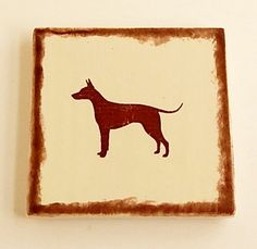 American Hairless Terrier Coasters Dog Lovers by SerendipitiniPet