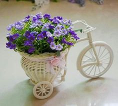 Macetero de bicicleta.