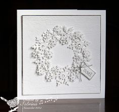 TLC560 Snow Wreath by Cook22 - Cards and Paper Crafts at Splitcoaststampers