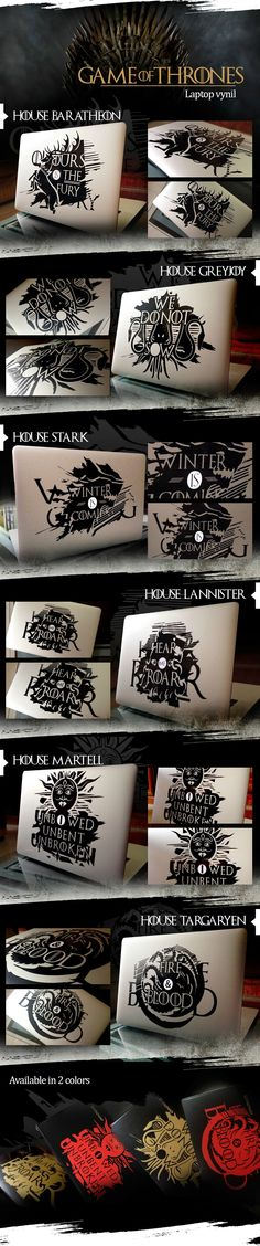 Game of Thrones Laptop Decals for Apple MacBook - International Shipping Available