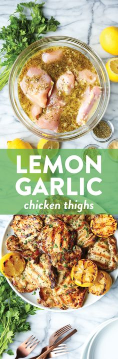 Lemon Garlic Chicken Thighs - Damn Delicious
