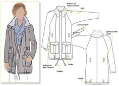 Items similar to Romy Anorak // Sizes 18 & 20 // Women's Anorak Jacket PDF sewing pattern by Style Arc // DIY clothing // Challenging Sewing Projects on Etsy Coat Pattern Sewing, Pdf Sewing Patterns, Clothing Patterns, Jacket Pattern, Still Waiting For You, Anorak Jacket, Rain Jacket, Diy Clothing, Outfit
