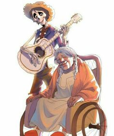 Through music, he could always be with her. Coco and Hector.