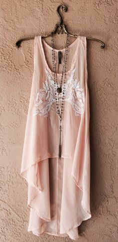 Image of Coachella Peach hi low flowy kimono style top