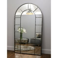 Chicago - Crushed Black Industrial Full Length Mirror x x Full Length Mirror Entryway, Full Length Mirror Stand, Entryway Mirror, Window Mirror, Tall Wall Mirrors, Unique Mirrors, Beautiful Mirrors, Metal Mirror, Metal Frames