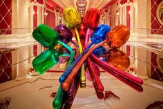 "Wynn Las Vegas  Have you seen them yet? Our beautiful new addition is Tulips by renowned artist, Jeff Koons. Part of Koon's ""Celebration"" Series, this vividly-colored piece now resides between Wynn and Encore in front of the Wynn Theater. Come by and take a look."
