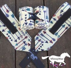 Autumn Arrows patterned polo wraps by WhinneyWear  Www.Whinneywear.Com