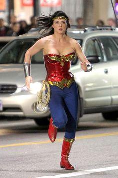 Adrianne Palicki Photos Photos: Adrienne Palicki Films 'Wonder Woman' Actress Adrianne Palicki as Wonder Woman TV Pilot) Super Hero High, Dc Super Hero Girls, Gal Gadot Wonder Woman, Wonder Woman Comic, Seth Macfarlane, Adrienne Palicki, Stunt Woman, Wander Woman, Dc Comics