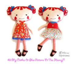 Painted Doll Face Patterns | Raggedy Ann and Andy Sewing Pattern