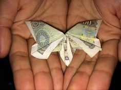 Dollar Origami Butterfly Tutorial - How to make a Dollar Butterfly - YouTube