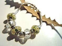 Pandora Inspired Glass & Silver Bracelet by JuJuBeader on Etsy, $85.00