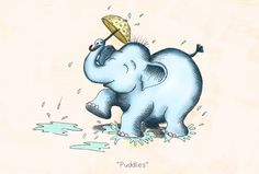 Elephant in the Rain by Illustrator Hannah Tuohy