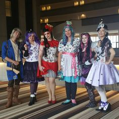 Phyrra Cosplaying Ever After High Raven Queen with her friends at Dragon Con 2016