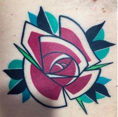 Mike Boyd cria fantásticas tatuagens inspiradas no cubismo, traços futurísticos…