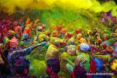 So jealous James got to experience this while he was there | Holi Festival of Color in India