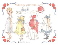 victorian alice in wonderland paper dolls | Alice in Wonderland Artist Paper Doll by UncommonNonsense on Etsy