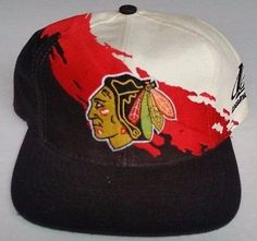1473a6cf1c8 Chicago Blackhawks Snapback Vintage Logo Athletic Splash Hat NHL Starter  Toews Chicago Blackhawks