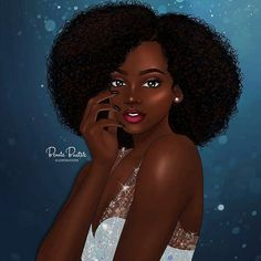 ✏✏✏ @bennie_buatsie_illustrationz - Sparkle and shine! Some girls are just born with glitter in their veins!  #bennie_buatsie_illustrations #2018 #blackgirlmagic #melaninpopping #afro #africanartist #naturalhair
