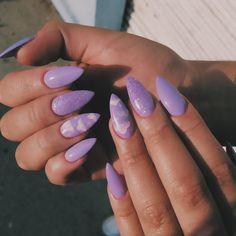 Nagel Gel, Nails Inspiration, Cute Nails, Acrylic Nails, Manicure, Nail Art, Purple, Beauty, Instagram
