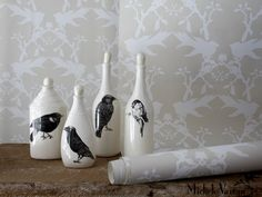 Black Bird Bottles by Laura Zindel