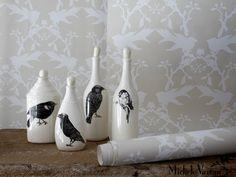 Black Bird Bottles by Laura Zindel