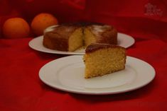 Torta de harina de maíz y naranja