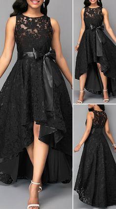 Women S Fashion Kuala Lumpur Key: 1688436959 Modest Dresses, Pretty Dresses, Beautiful Dresses, Casual Dresses, Black High Low Dress, 1920s Fashion Women, Dinner Gowns, Cute Dress Outfits, Luxury Wedding Dress