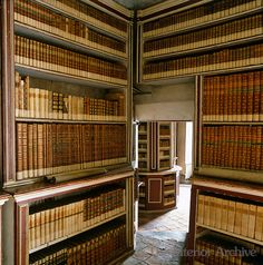 An ancient library of ancient books, occupying at least two rooms of the Castello di Massino near Turin, Italy. The castle was a convent in the and was eventually converted to a private estate house in the The library books were collected around the Library Study Room, Dream Library, Mini Library, Palaces, Library Bookshelves, Bookcases, Library Architecture, Beautiful Library, Home Libraries