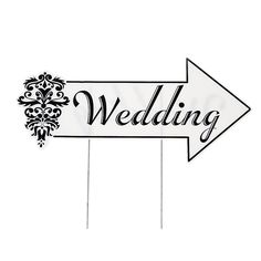 Wedding Directional Sign - OrientalTrading.com