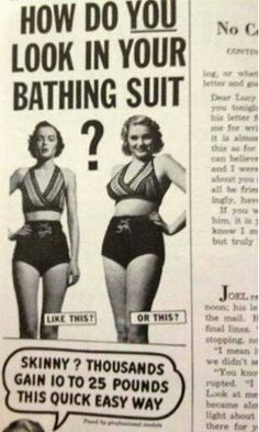times have changed: Ad on how to weight gain