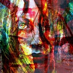 Now And Then Abstract New Mixed Media Portrait By Rich Ray Art