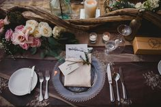 Tips on how to set your wedding table   Inspiring post by Bridestory.com, everyone should read about The Romantic and Rustic Wedding of Vania Larissa and Wilson Pesik on http://www.bridestory.com/blog/the-romantic-and-rustic-wedding-of-vania-larissa-and-wilson-pesik