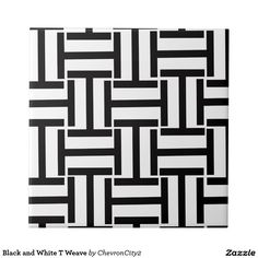 Black and White T Weave