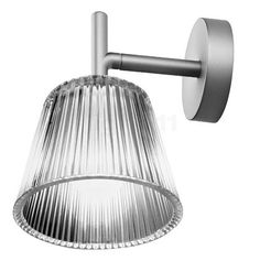 Flos Romeo Babe W Wall Light with Pressed Glass Shade design Philippe…